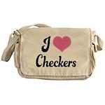 I Love Checkers Messenger Bag