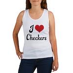 I Love Checkers Women's Tank Top