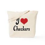 I Love Checkers Tote Bag