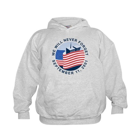 9/11 We will never forget Kids Hoodie