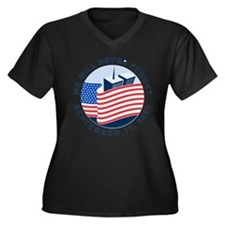 9/11 We will never forget Women's Plus Size V-Neck
