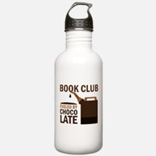 Book Club Fueled By Chocolate Water Bottle