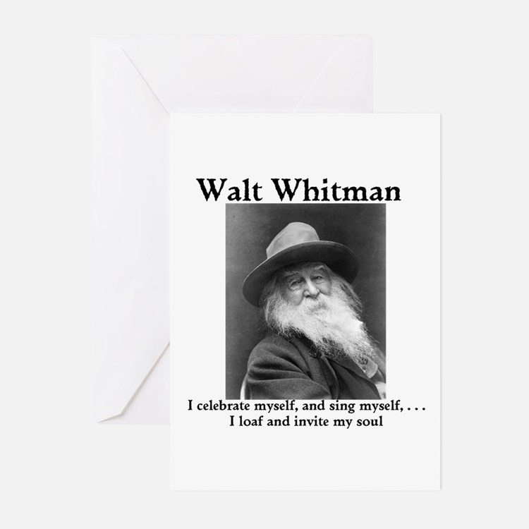 Walt Whitman celebrates himself! Greeting Cards (P
