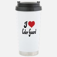 I Love Color Guard Travel Mug