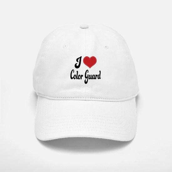 I Love Color Guard Baseball Baseball Cap