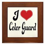 I Love Color Guard Framed Tile