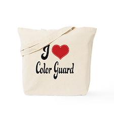 I Love Color Guard Tote Bag
