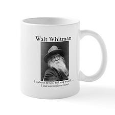 Walt Whitman celebrates himself! Small Mugs