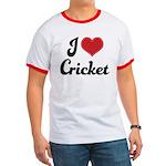I Love Cricket Ringer T