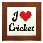 I Love Cricket Framed Tile
