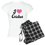 I Love Cricket Women's Light Pajamas