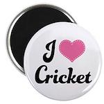 I Love Cricket Magnet