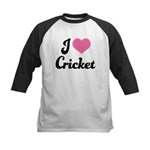 I Love Cricket Kids Baseball Jersey