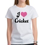I Love Cricket Women's T-Shirt