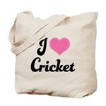 I Love Cricket Tote Bag