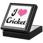 I Love Cricket Keepsake Box
