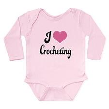 I Love Crocheting Long Sleeve Infant Bodysuit
