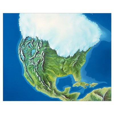 North American glaciation Poster