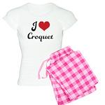 I Love Croquet Women's Light Pajamas