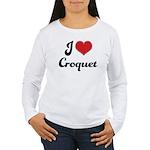 I Love Croquet Women's Long Sleeve T-Shirt
