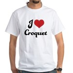 I Love Croquet White T-Shirt