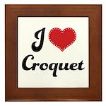 I Love Croquet Framed Tile