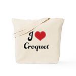 I Love Croquet Tote Bag