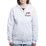 I Love Croquet Women's Zip Hoodie