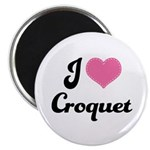 I Love Croquet Magnet