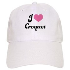 I Love Croquet Baseball Cap