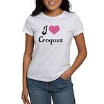 I Love Croquet Women's T-Shirt