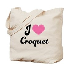 I Love Croquet Tote Bag