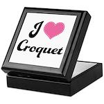 I Love Croquet Keepsake Box