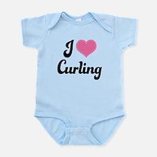 I Love Curling Infant Bodysuit