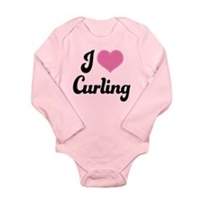 I Love Curling Long Sleeve Infant Bodysuit