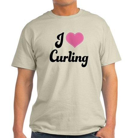 I Love Curling Light T-Shirt