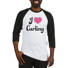 I Love Curling Baseball Jersey