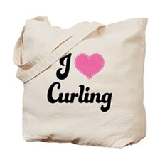 I Love Curling Tote Bag