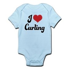 I Love Curling Infant Bodysuit