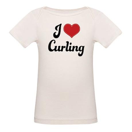I Love Curling Organic Baby T-Shirt
