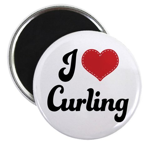 I Love Curling Magnet