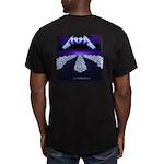 MZ art Men's Fitted T-Shirt (dark)