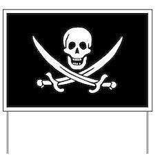 Calico Jack Flag Yard Sign