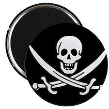 """Calico Jack Flag 2.25"""" Magnet (100 pack)"""