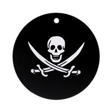 Calico Jack Flag Ornament (Round)