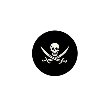 Calico Jack Flag Mini Button (100 pack)