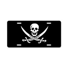 Calico Jack Flag Aluminum License Plate