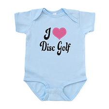 I Love Disc Golf Infant Bodysuit