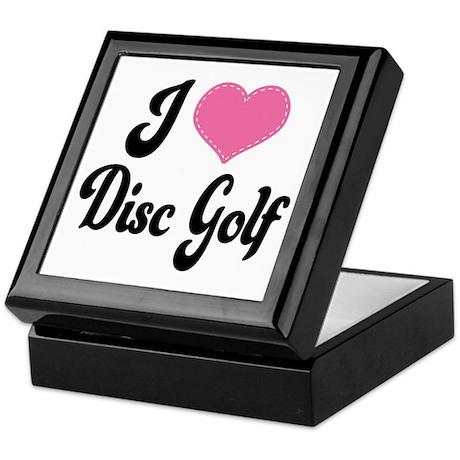 I Love Disc Golf Keepsake Box