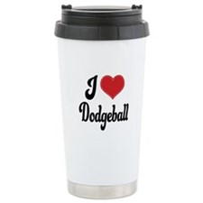 I Love Dodgeball Travel Mug